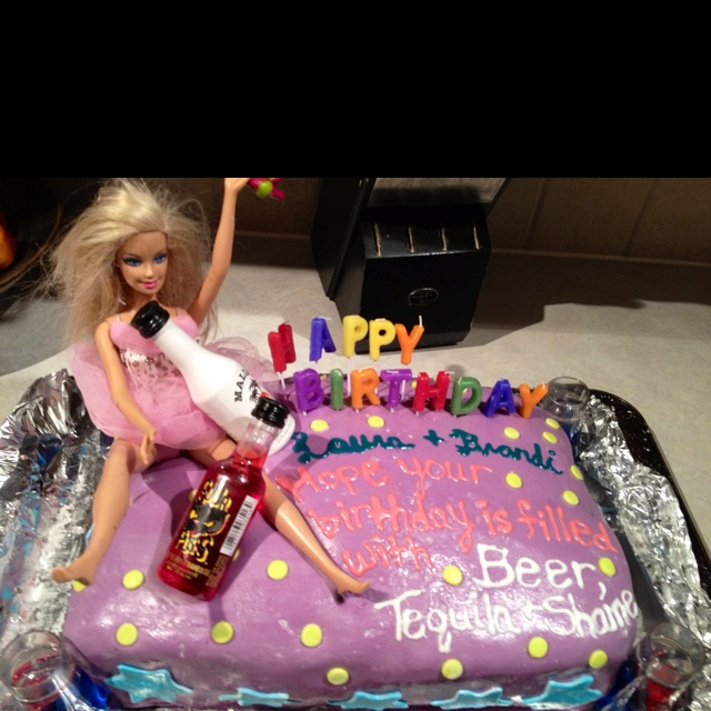 Drunk Barbie Cake Images : Pin Drunk Barbie 21st Birthday Cake Funny Cake on Pinterest