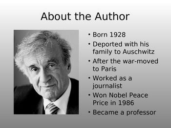 an introduction to the book night by elie wiesel Free wiesel night papers, essays, and research papers  in elie wiesel's book, night, when elie and his father rely on each other's hope in order to survive,.