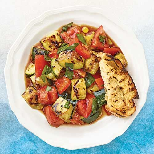 Grilled Zucchini And Tomato Salad - 0 Pts Recipes — Dishmaps