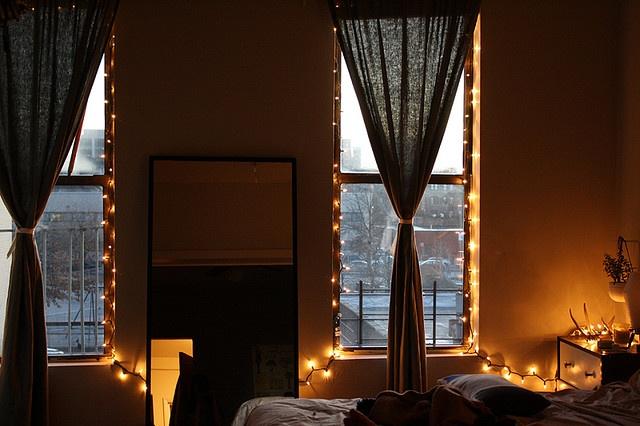 Christmas lights in the windows decor pinterest for Window lights