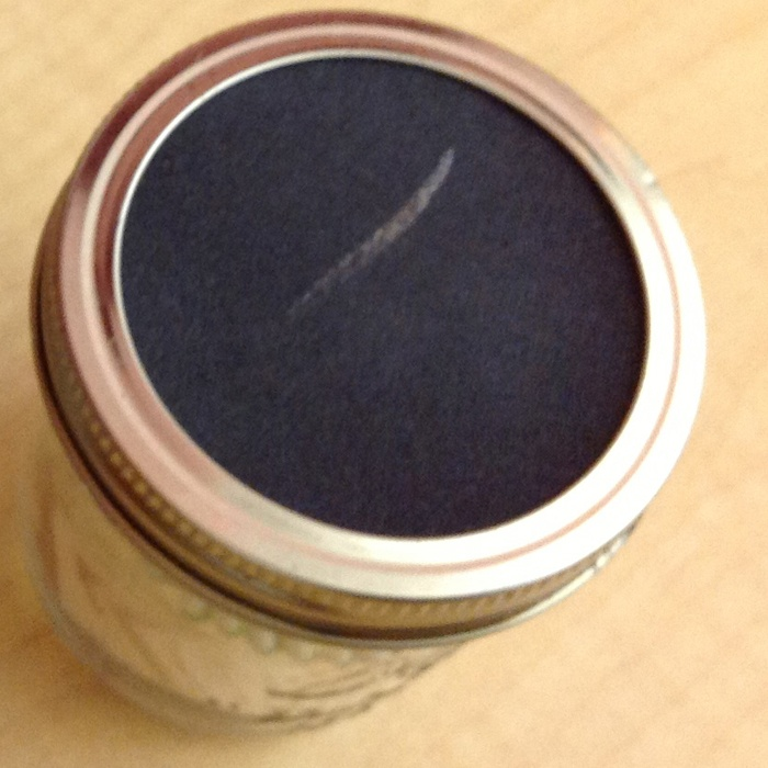 This little jar with a sandpaper top is great for matches just cut