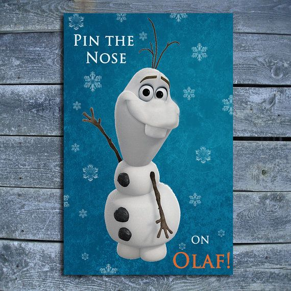 Pin the nose on olaf instant download diy