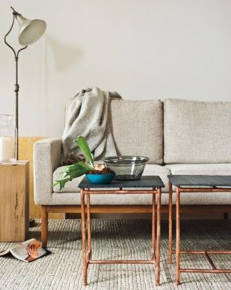 DIY Copper& Slate Side Tables