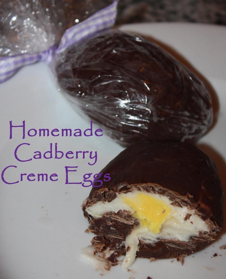 Easter: Homemade Cadberry Creme Eggs | Easter | Pinterest