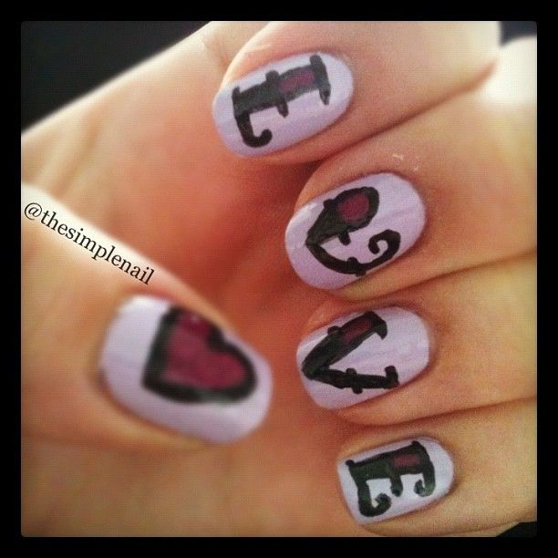cute valentine nails tumblr