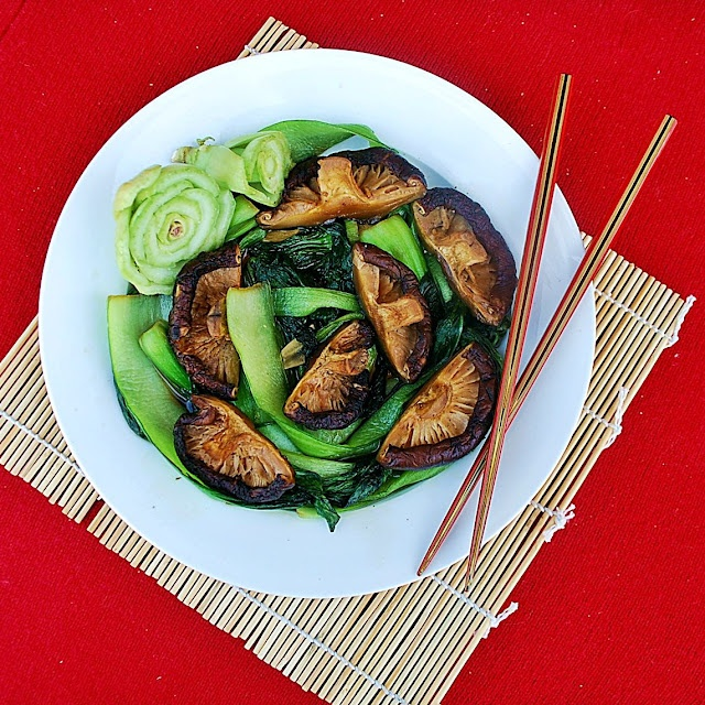 ... all things home, kitchen, shop: Baby Bok Choy with Shiitake Mushrooms
