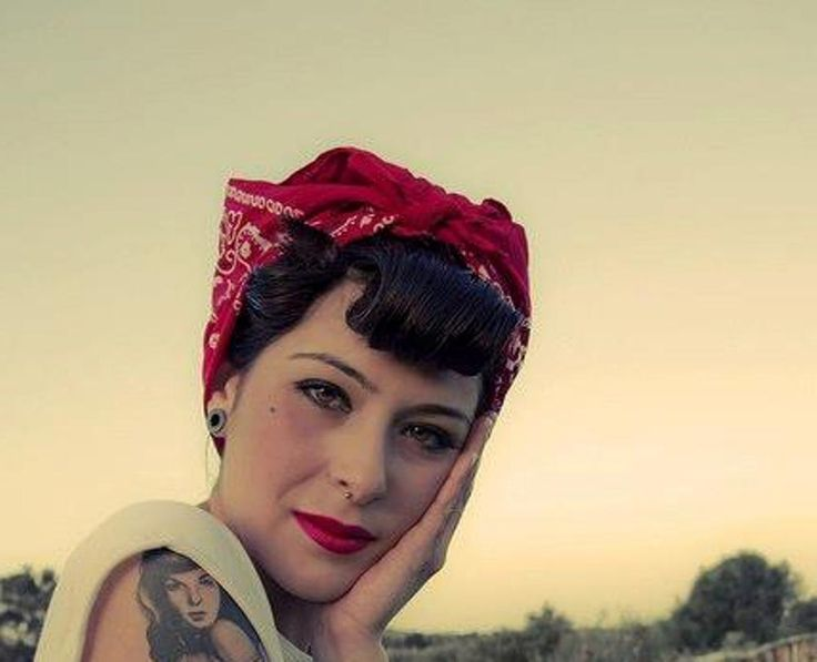 bandana rockabilly hairstyles - http://hairstylee.com/medium-bandana ...