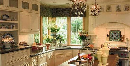 Corner window kitchen pinterest for Kitchen designs with corner windows