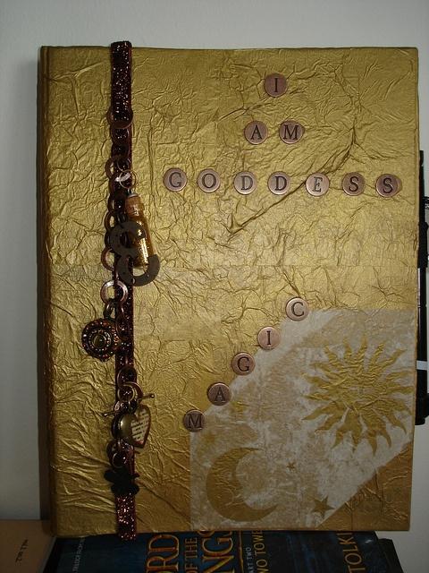 SMASH Journal Cover - decoupaged tissue paper, copper letter tiles and ...
