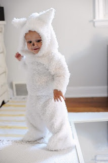 Cute costume. Maybe I should learn to sew before I become a parent.