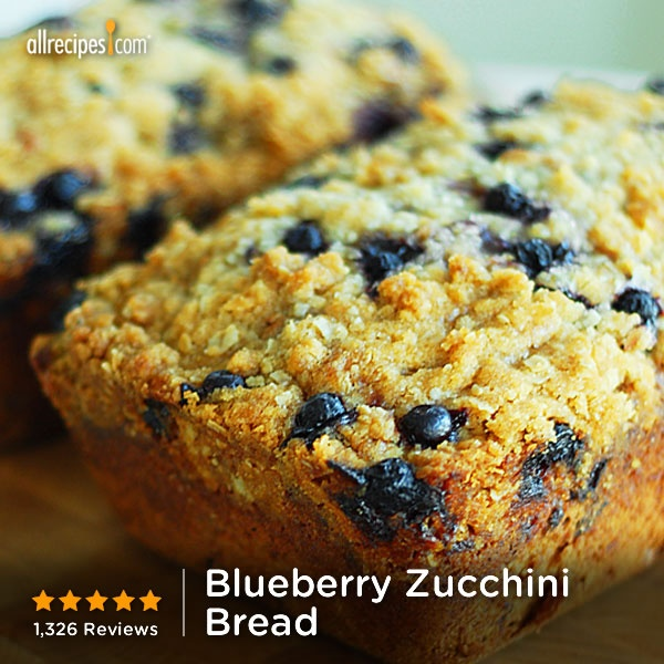 "Blueberry Zucchini Bread | ""Made these yesterday. I did muffins ..."
