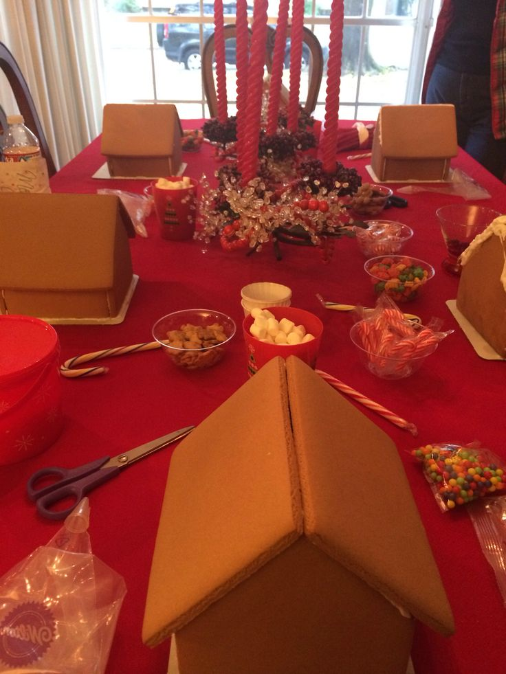 Gingerbread House Decorating Party Ginger Bread Houses