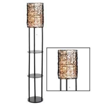 Rattan shelf floor lamp kirklands home pinterest for Kirklands floor lamp with shelves