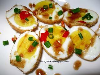 Thai Son-in-law Eggs~ 6 hard-boiled eggs, shelled, Oil for frying, 1/4 ...