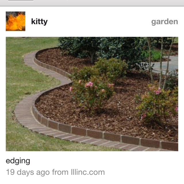 Edging front yard ideas pinterest for Front yard edging ideas