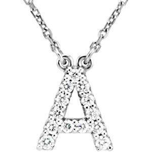 U Alphabet In Diamond 50% Off was $952.99, now is $475.88! 14k White Gold Diamond A Alphabet ...