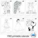 Календар за оцветяване 2014 – момичета