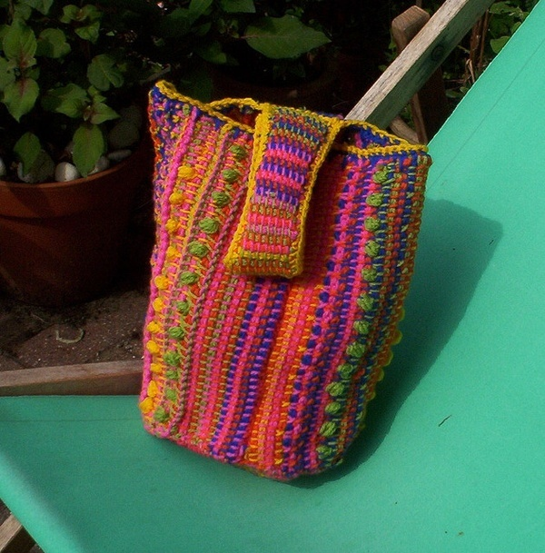 Tunisian Crochet Patterns Bags : tunisian crochet