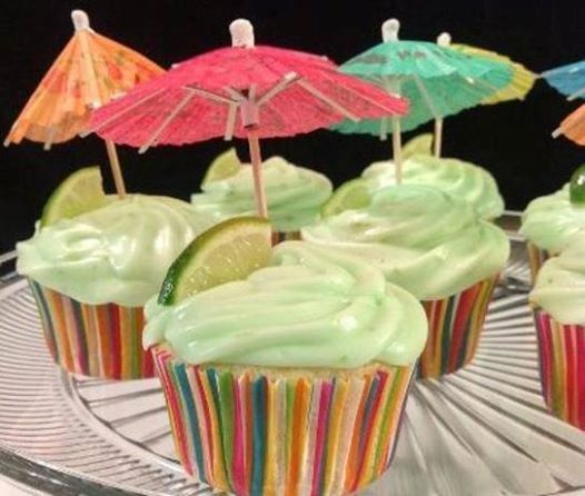 Margarita Cupcakes with Key Lime Icing 1 (18 1/4 ounce) box white cake ...