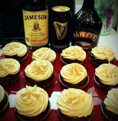 Chocolate Guinness Cupcakes with chocolate Bailey's ganache filling ...