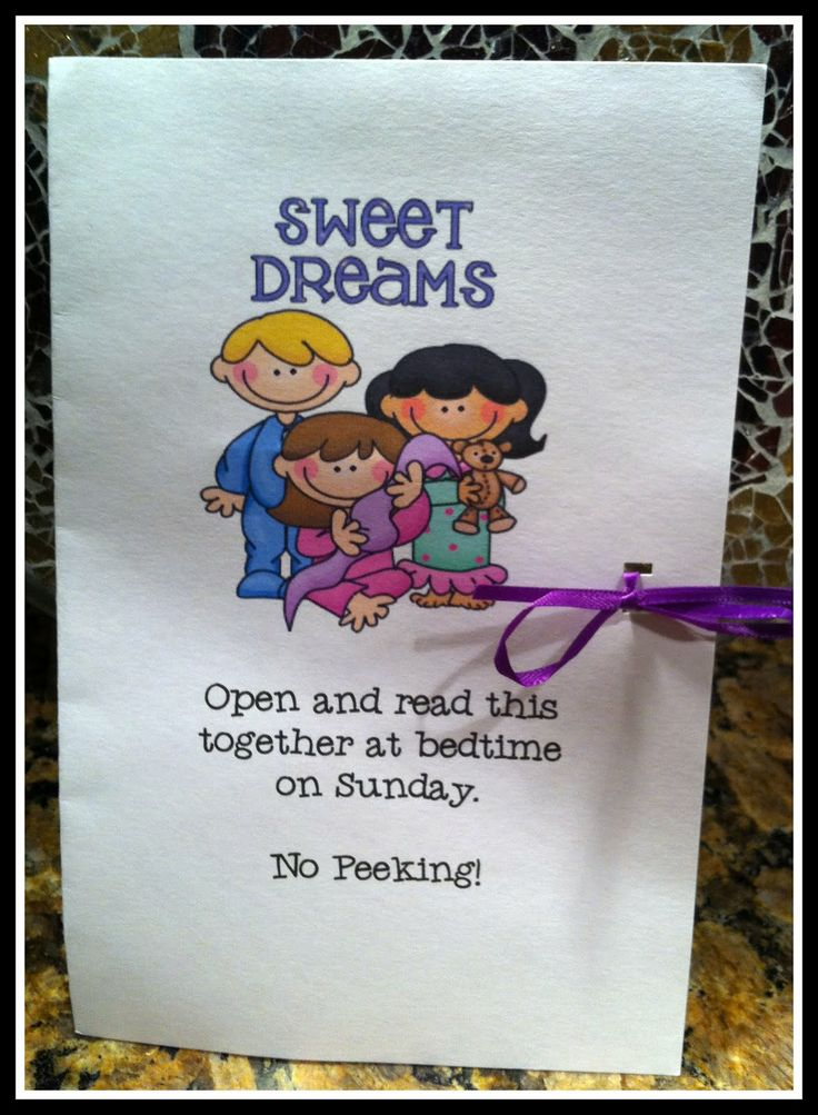 Idea ever poem and confetti for the kids to read the night before