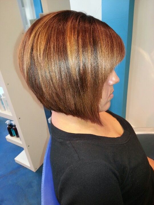 Anled Bob with Ombre Highlights | Angled Bob Hairstyles | Pinterest