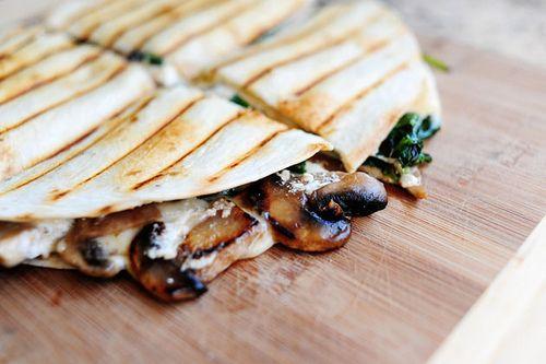 Spinach and Mushroom Quesadillas | Recipe