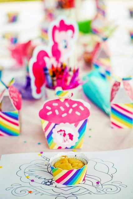 ... My Little Pony Rainbow girl Birthday Party! See more party ideas at