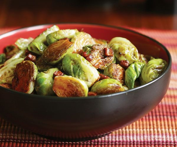 Balsamic Glazed Brussels Sprouts with Pancetta by Fine Cooking