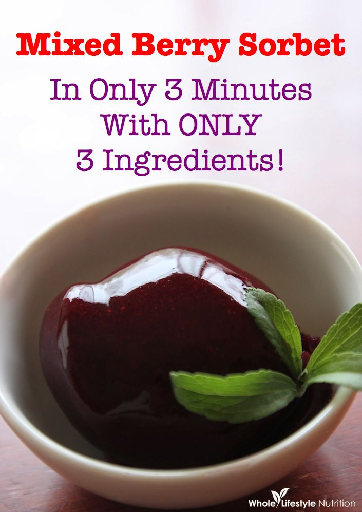 Mixed Berry Sorbet Recipe — Dishmaps