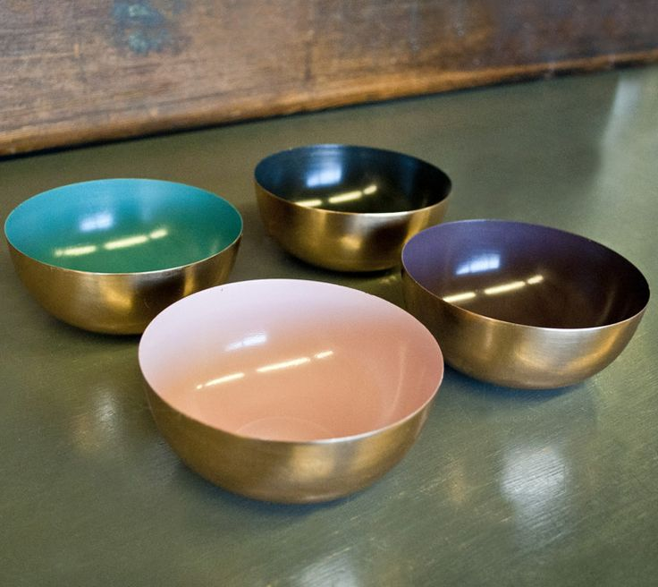 Table Basse Cuivre Bloomingville ~ Copper Bowls With Enamel  Navy  Products I Love  Pinterest