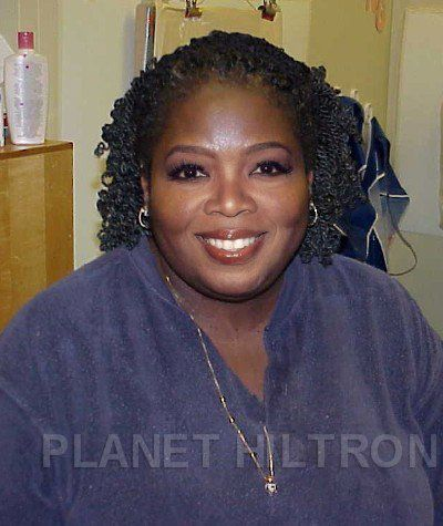 Oprah Winfrey - New York based artist Danny Evans has come up with Planet Hiltron – a hilarious photo series of what Hollywood celebs would look like if they were normal folk.