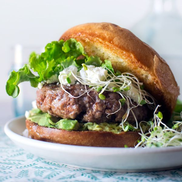Lamb Burgers with Goat Cheese and Avocado | Recipe
