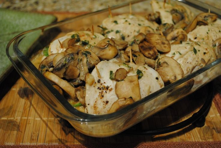 Spinach Stuffed Chicken Breasts in Mushroom Sauce via http ...