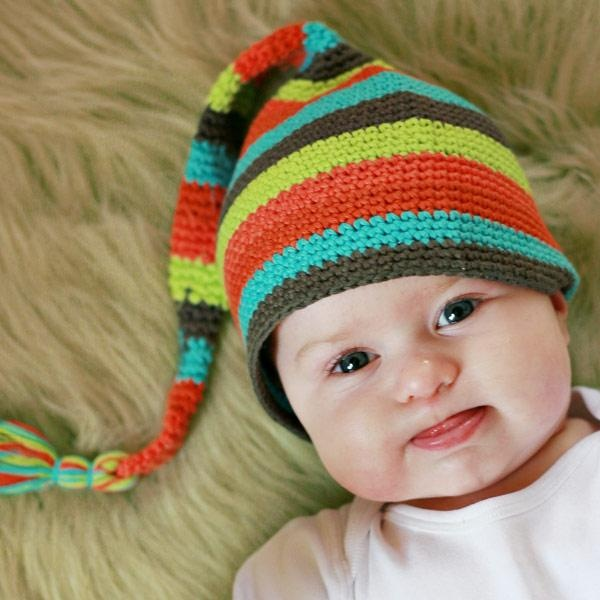 Multi Color Stocking Cap | baby hats :: knit | Pinterest