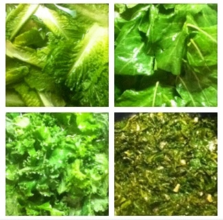 Clean Green Day! A Spicy Simple Sauté of: Kale & Collard in White ...