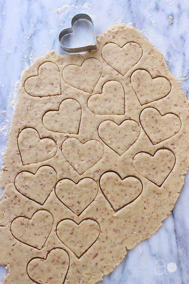 ambrosia: Toasted Coconut Shortbread Hearts