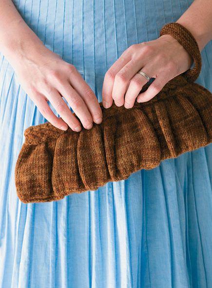 Knitted Clutch Pattern : Knit Wool Clutch (Free Knitting Pattern) Knitting!! Pinterest