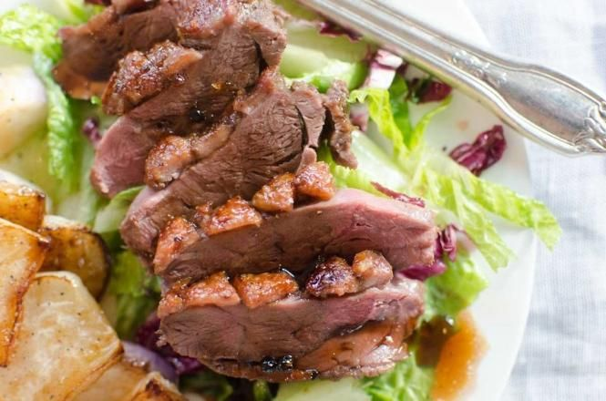 Tasty Duck Breast with Pomegranate Citrus Glaze