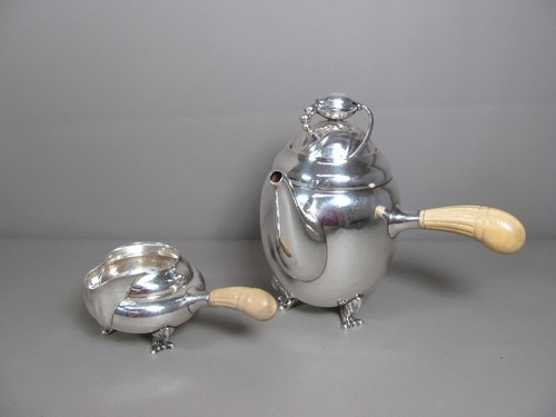 A nice Georg Jensen Blossom 2A Coffee Pot and Creamer that we recently sold