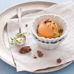Peach and Thyme Sorbet & Candied Pecans. | You Scream, I Scream | Pin ...
