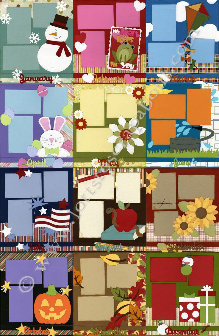 Great Calendar Ideas : Great calendar pages scrapbooking ideas pinterest