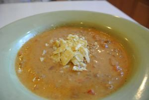 Nacho Soup 1/2 lb ground beef 1 can Ranch style beans 1 1/4 cup salsa ...