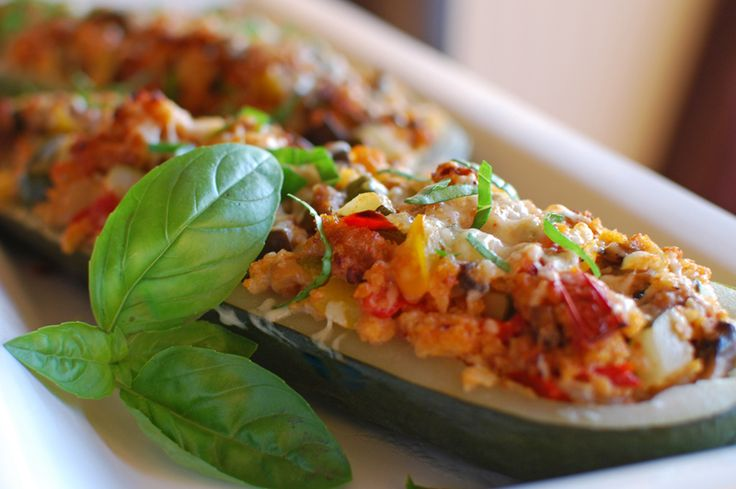 Stuffed Zucchini with Italian Sausage | Recipes to try | Pinterest