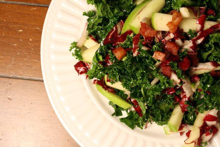 Kale, Apple and Pancetta Salad | Elephant Eats Recipes | Pinterest