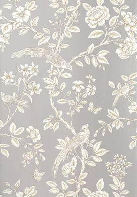 Grey bird pattern wallpaper wallpaper print pattern for Grey patterned wallpaper