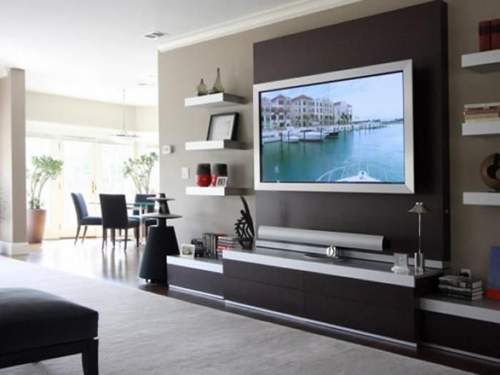 Modern living room tv wall units