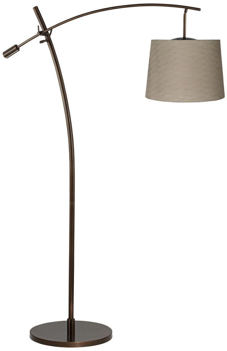 tara taupe pleated shade balance arm arc floor lamp. Black Bedroom Furniture Sets. Home Design Ideas