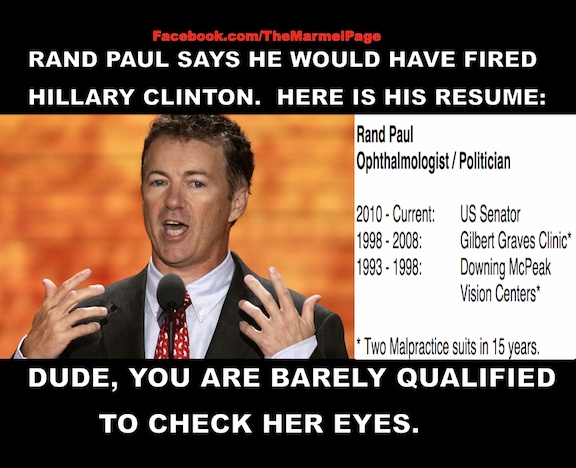 Video sen rand paul goes on a condescending rant towards hillary