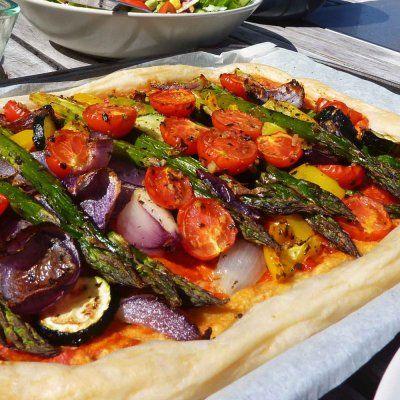Roasted Vegetable Tart - Vegan   Vegan   Pinterest